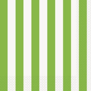 Green Stripes Luncheon Napkins - 16pk - Party Republic