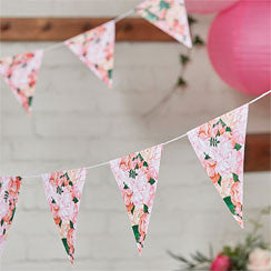 Boho Wedding Floral Paper Bunting - 3m - Party Republic