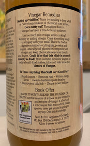 Apple Cider remedies label
