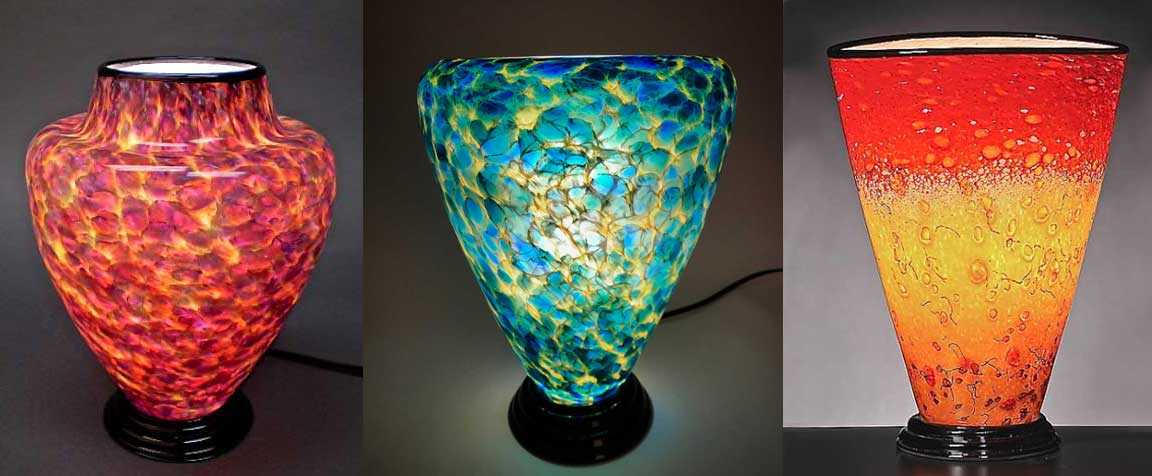 Art Glass Lamps Curt Brock