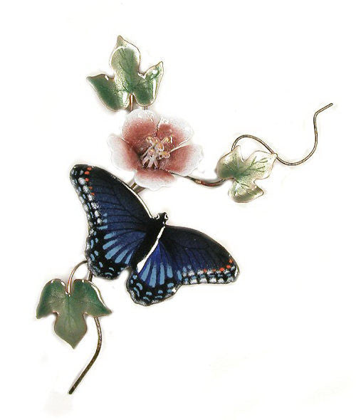 Red-Spotted Purple Butterfly with Flower