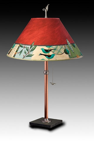 New Capri Table Lamp in Redwood