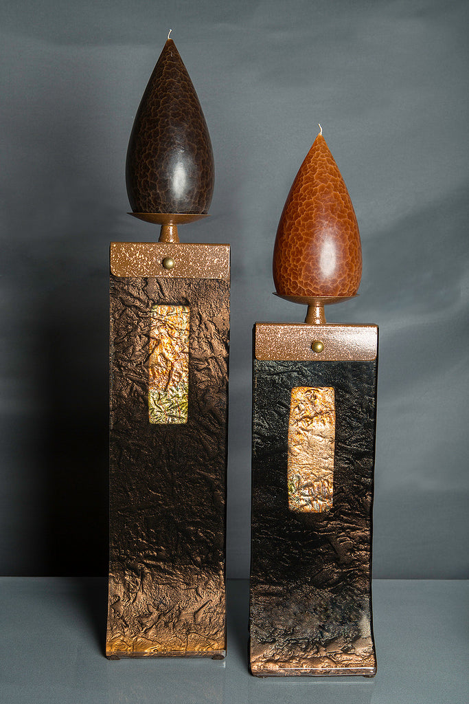 Black Glass Candle Holders Eclipse Gallery