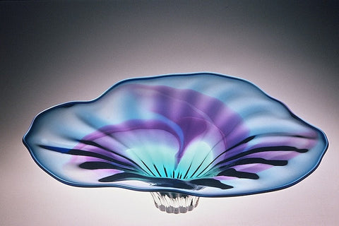 Optic Flower Bowl Grand Oval Blue