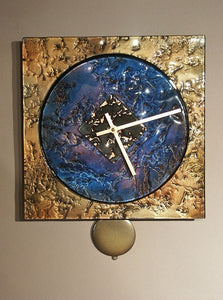 Square Clock Amythist