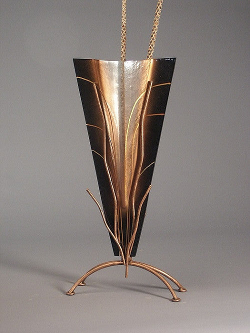 Tall Black Abstract Vase
