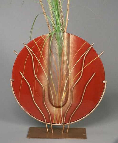 Large Red Abstract Vase