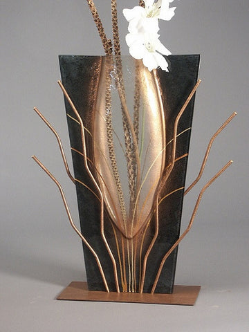 Large Black Abstract Vase
