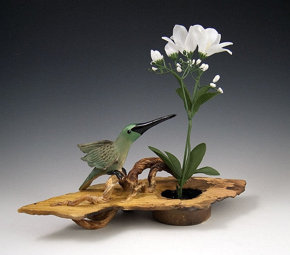 Hummingbird Ikebana Vase - Eclipse Gallery