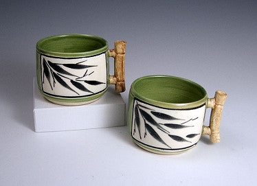 Bamboo Teacups with Tray - Eclipse Gallery