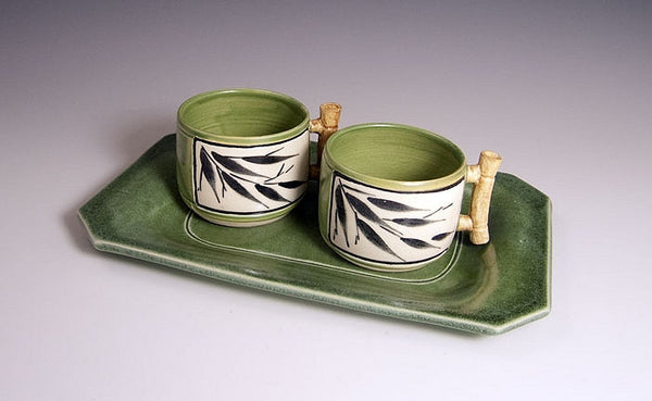 Bamboo Teacups with Tray
