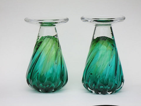 Candle Holder (Green & Gold)