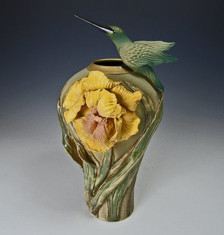 Iris Hummingbird Vase - Eclipse Gallery