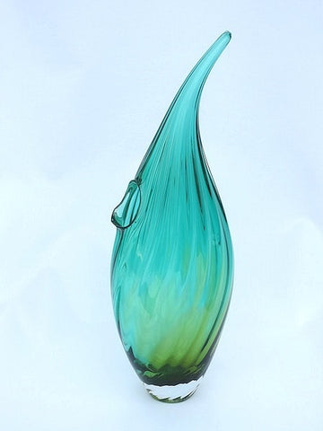 Raindrop Vase (Green & Gold)
