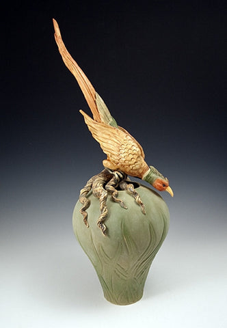 Crouching Pheasant Vase - Eclipse Gallery