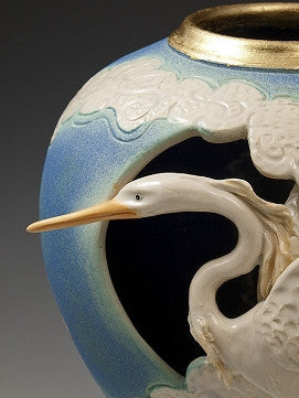 Heron in Clouds Vase - Eclipse Gallery