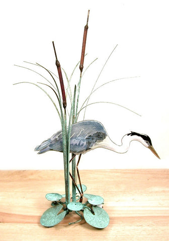 Heron table sculpture