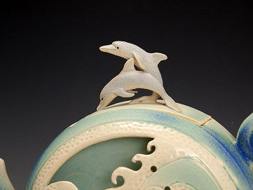 Dolphin Wave Box Teapot - Eclipse Gallery