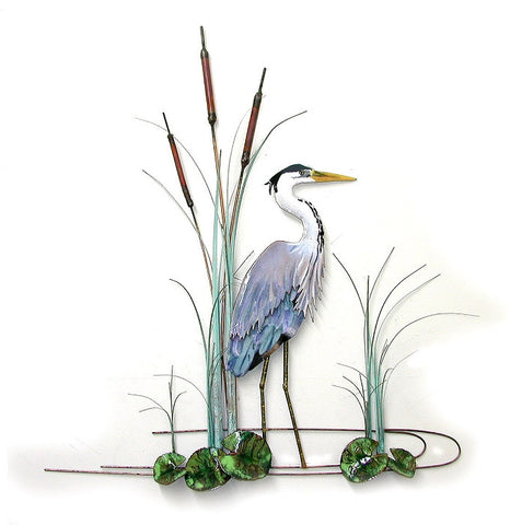 Great Blue Heron in cattails - Eclipse Gallery