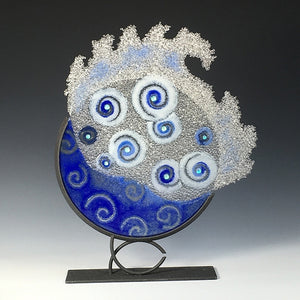 Dark Blue Dream Splash with Arc Stand - Eclipse Gallery