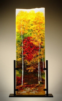 ''Color of Autumn'' Glass Frit Painting - Eclipse Gallery