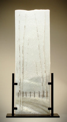 ''Snow Fence'' Glass Frit Painting - Eclipse Gallery