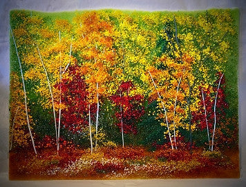 Forest of Fall Color Frit Painting - Eclipse Gallery
