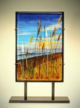 """Beach Tranquility"" Dimensional Glass Sculpture"