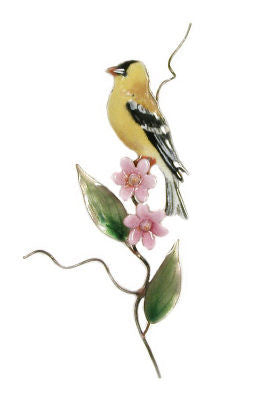 Goldfinch with Pink Asters