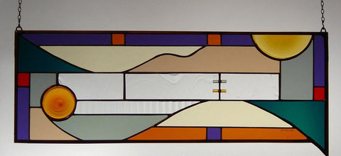 Glass Panel - Rivulet - Eclipse Gallery