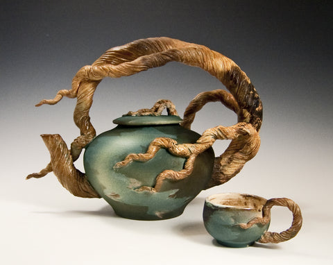 Arching Branch Teapot with 2 cups