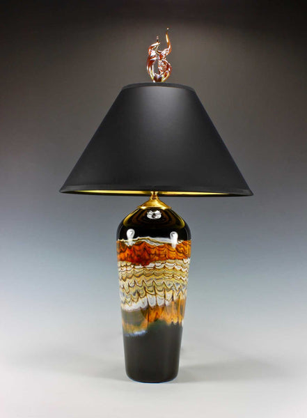 Black Opal Tangerine Table Lamp Flame Finial Blade Gartner Eclipse Gallery