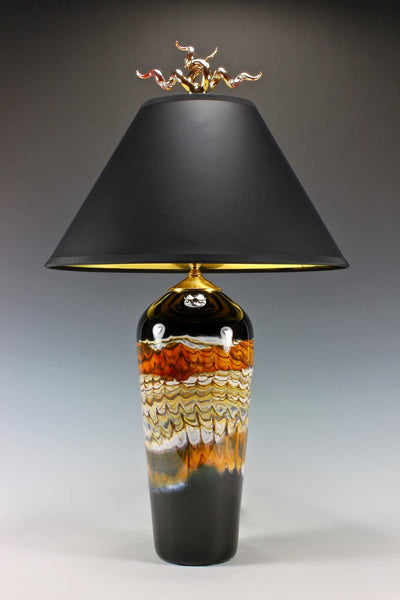 Black Opal Tangerine Table Lamp Juniper Finial Blade Gartner Eclipse Gallery