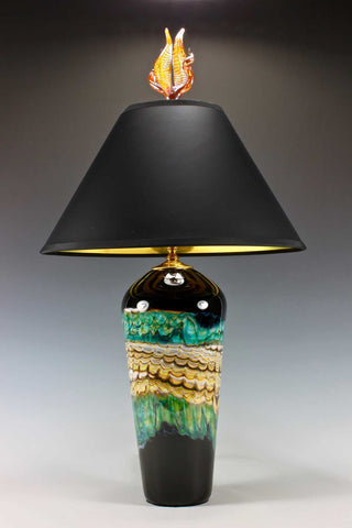 Black-Opal-Turquoise-Table-Lamp-with-Tulip-and-Tendril-Finial-Danielle-Blade-and-Stephen-Gartner-Eclipse-Gallery