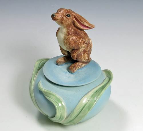 Bunny Covered Jar