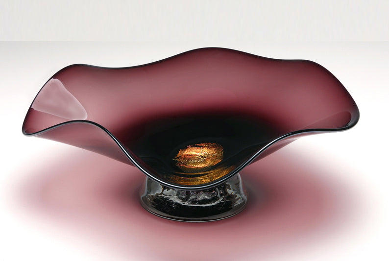 "Dichroic Bowl ""Burgundy"" - Eclipse Gallery"