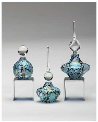 Cherry Blossom Perfume Bottle: Blue