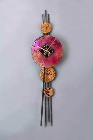 Dotty Clock with Purple Face - Eclipse Gallery