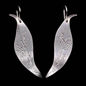 Leaf with Cattails or Vine Earrings - Eclipse Gallery