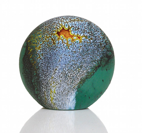 Deep Blue Green Stone Paperweight