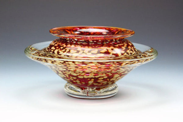 Ikebana-Vase-Transparent-Ruby-Danielle-Blade-and-Stephen-Gartner-Eclipse-Gallery