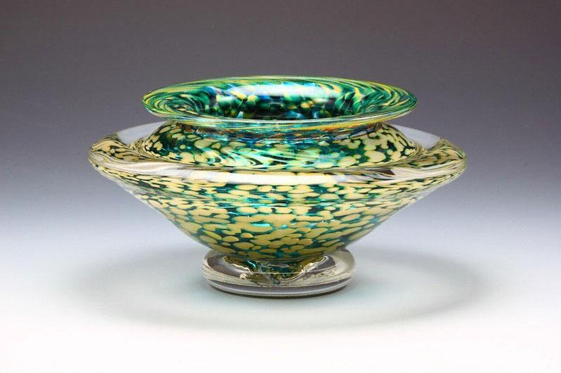 Ikebana-Vase-Transparent-Teal-Danielle-Blade-and-Stephen-Gartner-Eclipse-Gallery
