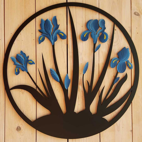 Iris-Wall-Hanging-Blue-Cricket-Forge-Eclipse-Gallery