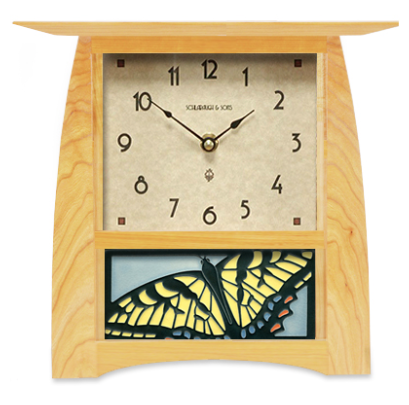 Arts & Crafts Tile Clock (Large Face) - Eclipse Gallery