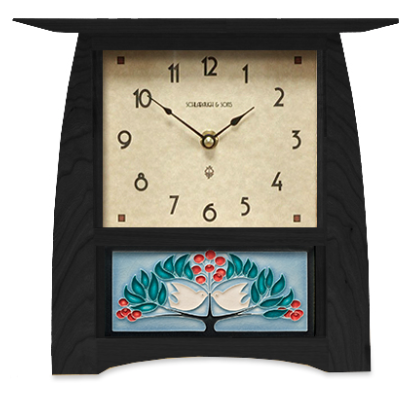 Arts & Crafts Tile Clock (Large Face)