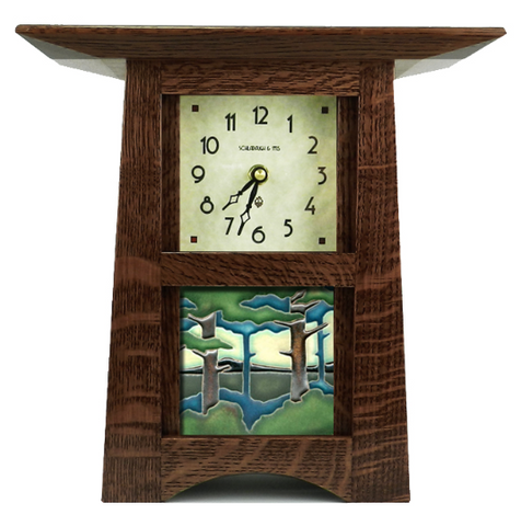 Craftsman Tile Clock with 4 x 4 Tile