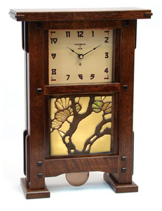Greene & Greene Inspired Tile Pendulum Clock - Eclipse Gallery