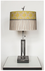 Adjustable Height Table Lamp with Kiwi Large Drum Shade - Eclipse Gallery