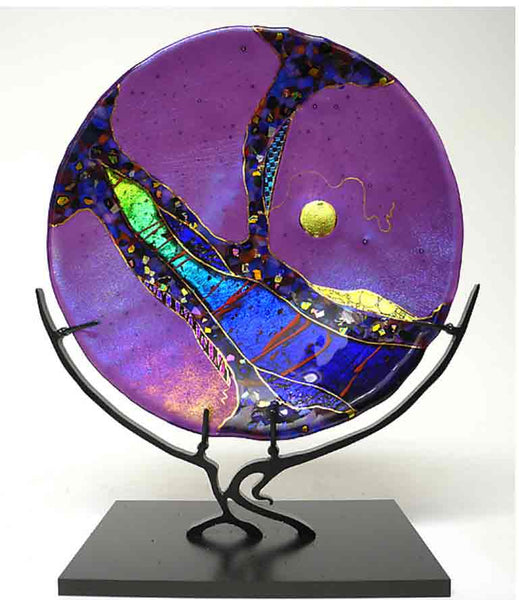 Amethyst Moon on Stand - Eclipse Gallery