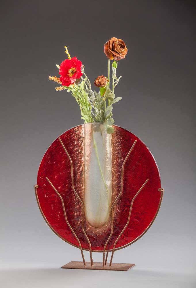 Large Ruby Red Vase - Eclipse Gallery